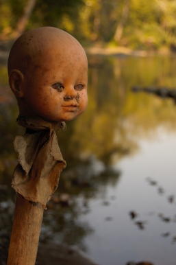 River deity? Potomac trash art? Or good 'ol boys with too much time on their hands? The doll doesn't say.