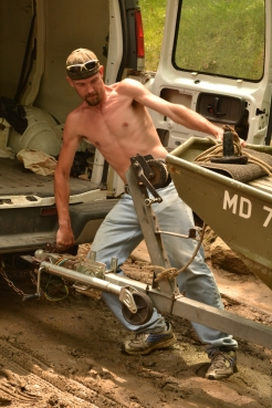 It takes strength and finesse to get your jon boat out of the water and back on your trailer.