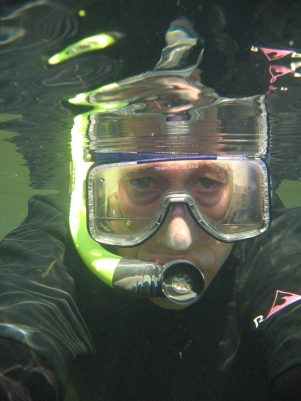 A face mask opens up a new world of fish and other members of the Potomac River underworld.